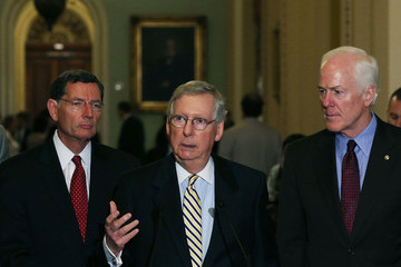 John Cornyn Senate Lawmakers Address the Media After Their Weekly Policy Luncheons