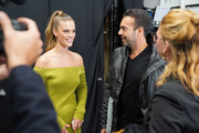Nina Agdal (L) and Joao Foltran attend the John John Fashion Show during NYFW at Gallery I at Spring Studios on February 12, 2019 in New York City.