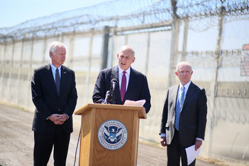 John Kelly DHS Secretary Kelly And AG Sessions Visit Border Operations In San Diego