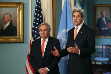 John Kerry John Kerry Meets With UN Secretary General Designate Antonio Guterres