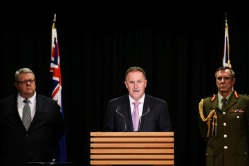 John Key Gerry Brownlee Joint Press Conference With New Zealand's Defence Minister And Chief Of Defence
