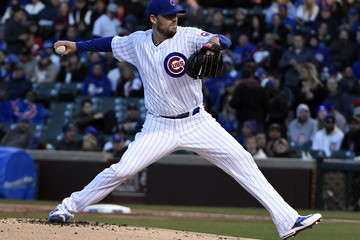 John Lackey Milwaukee Brewers v Chicago Cubs