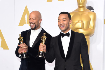 John Legend Common 87th Annual Academy Awards Press Room