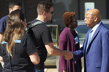 John Lewis MoveOn Members In Dallas Canvass For Colin Allred