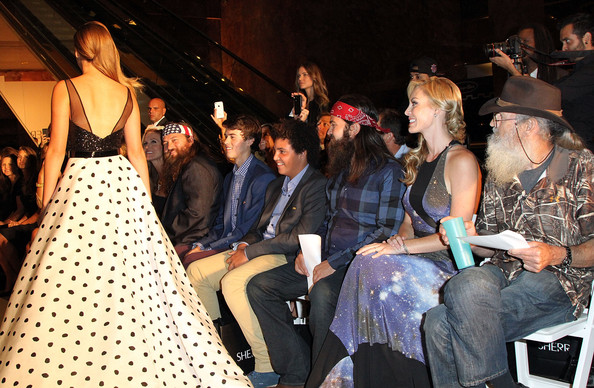 Sadie Robertson and John Luke Robertson - MBFW: Front Row at Evening