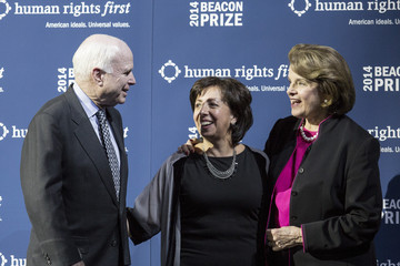 John McCain Senators McCain And Feinstein Receive Beacon Prize For Commitments To End Use Of Torture