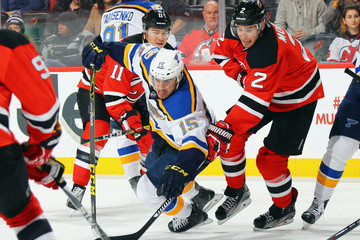 John Moore St Louis Blues v New Jersey Devils