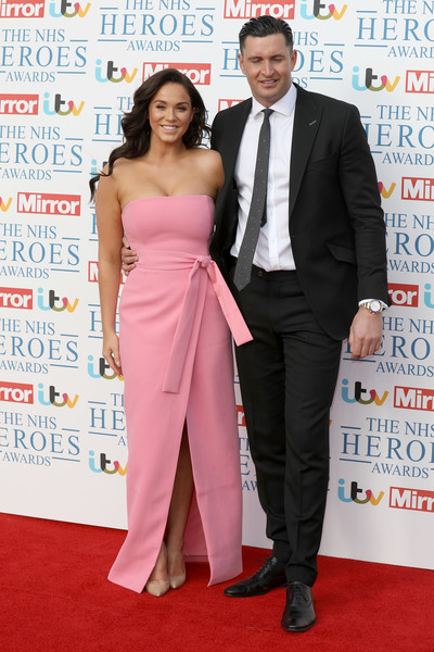 'NHS Heroes Awards' - Red Carpet Arrivals [red carpet,carpet,suit,event,shoulder,dress,premiere,formal wear,fashion,flooring,john noble,vicky pattison,nhs heroes awards,england,london,hilton park lane,red carpet arrivals]