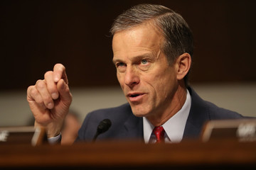 John Thune Confirmation Hearing Held For Trump's Pick To Become Commerce Secretary Wilbur Ross