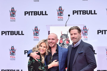 John Travolta Pitbull Hand And Footprint Ceremony