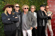 (L-R) Recording artists Robin Zander, Daxx Nielsen, Sammy Hagar, Tom Petersson, Rick Nielsen, and fashion designer John Varvatos attend the John Varvatos 13th Annual Stuart House benefit presented by Chrysler with Kids' Tent by Hasbro Studios at John Varvatos Boutique on April 17, 2016 in West Hollywood, California.