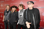 (L-R) Recording artists Daxx Nielsen, Robin Zander, Tom Petersson and Rick Nielsen of music group Cheap Trick attend the John Varvatos 13th Annual Stuart House benefit presented by Chrysler with Kids' Tent by Hasbro Studios at John Varvatos Boutique on April 17, 2016 in West Hollywood, California.