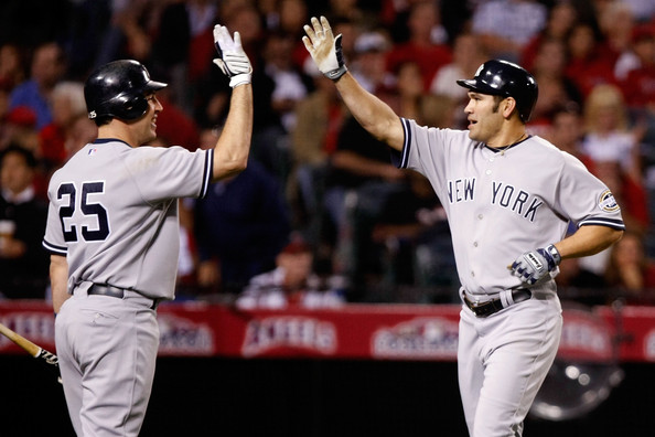 mark teixeira wallpaper yankees. Johnny Damon and Mark Teixeira