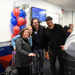 Johnny Damon Delta Air Lines Celebrates The New York Yankees At LaGuardia Airport With Yankees Champions Bernie Williams And Johnny Damon