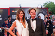 "Sara Cavazza Facchini and  Mathias Facchini walk the red carpet ahead of the ""Joker"" screening during the 76th Venice Film Festival at Sala Grande on August 31, 2019 in Venice, Italy."