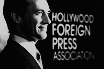 Jon Hamm Guests Arrive to the Hollywood Foreign Press Association Hosts Annual Grants Banquet
