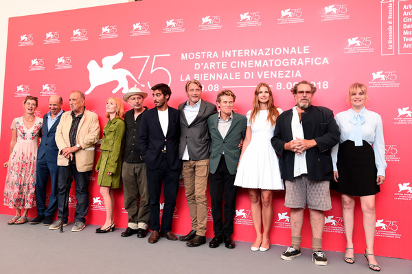 'At Eternity's Gate' Photocall - 75th Venice Film Festival [red,event,carpet,red carpet,company,brand,l-r,vladimir consigny,venice film festival,eternitys gate photocall - 75th,anne consigny,jon kilik,willem dafoe,benoit delhomme,mads mikkelsen,lolita chammah]