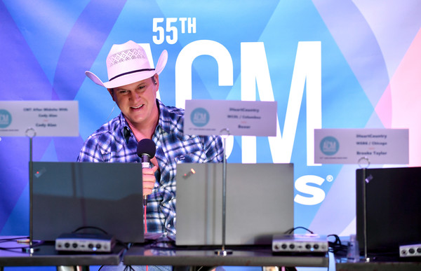 55th Academy Of Country Music Awards Virtual Radio Row - Day 2 [media,technology,event,display device,jon pardi,musician,radio row,radio row,purple,gadget,academy of country music awards,interview,event,public relations,purple,display device,gadget,musician,event,public,artist,computer monitor]