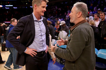 Jon Stewart Golden State Warriors vs. New York Knicks