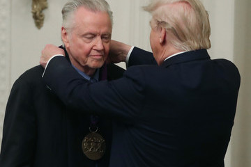 Jon Voight President Trump And First Lady Melania Present National Arts And Humanities Medals