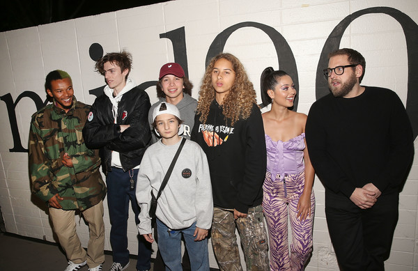 Premiere Of A24's 'Mid90s' - Red Carpet [social group,event,fun,art,red carpet,olan prenatt,sunny suljic,na-kel smith,ryder mclaughlin,gio galicia,l-r,a24,premiere,premiere]