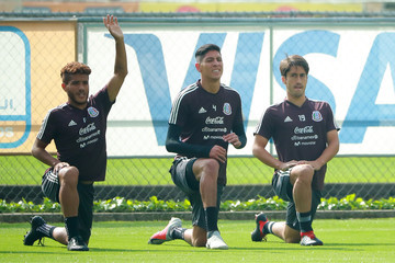 Jonathan Dos Santos Mexico National Team Training Session And Press Conference