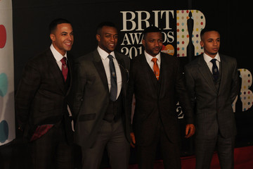 Jonathan Gill Marvin Humes Brit Awards 2013 - Red Carpet Arrivals