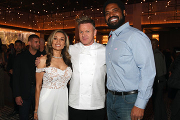 Jonathan Ogden Chef Gordon Ramsay Marks the Opening of the First-Ever Hell's Kitchen Restaurant at Caesars Palace Las Vegas