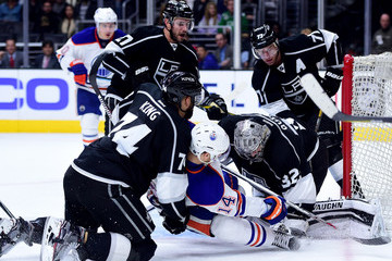 Jonathan Quick Alec Martinez Edmonton Oilers v Los Angeles Kings
