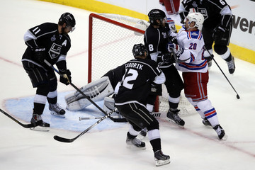 Jonathan Quick Chris Kreider 2014 NHL Stanley Cup Final - Game Two