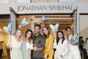 (L-R) Lindsey Dupuis Bledsoe, Nikki Reed, Jonathan Simkhai, Louise Roe, Monica Rose and Chanel Iman attend Jonathan Simkhai Supports Children's Hospital LA Make March Better on March 19, 2019 in West Hollywood, California.