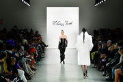 Elsa Hosk walks the runway for Jordache X LaQuan Smith during New York Fashion Week: at Gallery II at Spring Studios on February 08, 2020 in New York City.