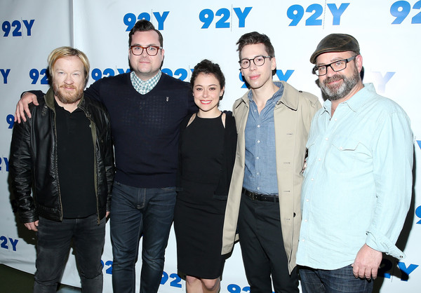 An Evening with the Cast & Co-Creator of 'Orphan Black' [orphan black,social group,event,premiere,team,performance,co-creator,john fawcett,graeme manson,actors,jordan gavaris,tatiana maslany,cast,l-r,an evening with the cast co-creator]
