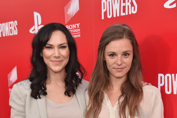"""Jordan Hayes PlayStation & Sony Pictures Television Series Premiere Of """"POWERS"""" - Red Carpet"""