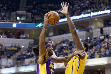 Jordan Hill Los Angeles Lakers v Indiana Pacers