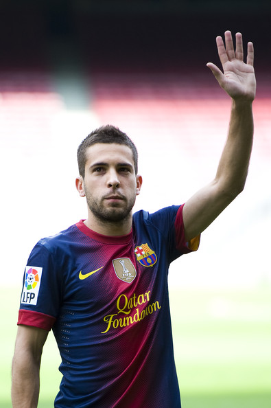Jordi Alba - Official Presentation of New FC Barcelona Player Jordi Alba