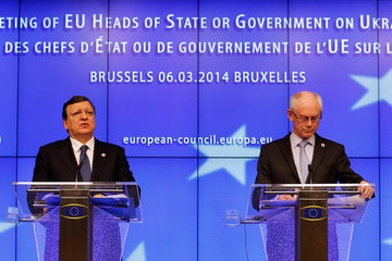 Jose Manuel Durao Barroso European Leaders Conduct Emergency Meeting