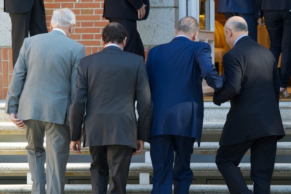 King Juan Carlos Attends A Meeting of The Council of Ministers At The Zarzuela Palace