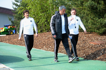 Jose Mourinho Chelsea FC Training Session