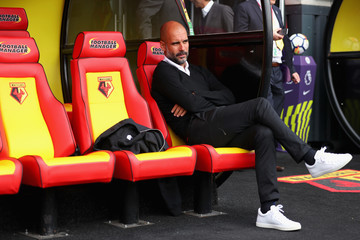 Josep Guardiola Watford v Manchester City - Premier League