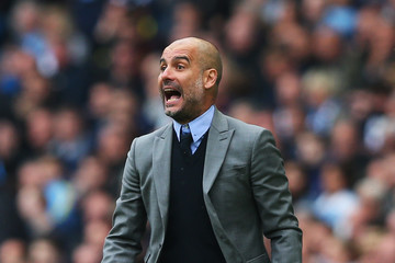 Josep Guardiola Manchester City v Leicester City - Premier League