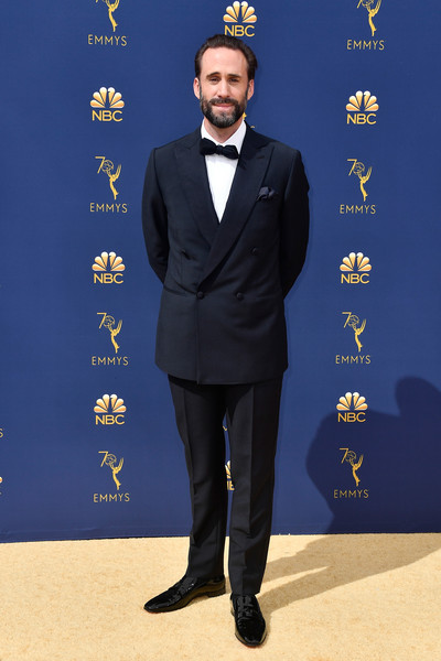 70th Emmy Awards - Arrivals [suit,formal wear,tuxedo,carpet,pantsuit,arrivals,joseph fiennes,emmy awards,70th emmy awards,microsoft theater,los angeles,california]