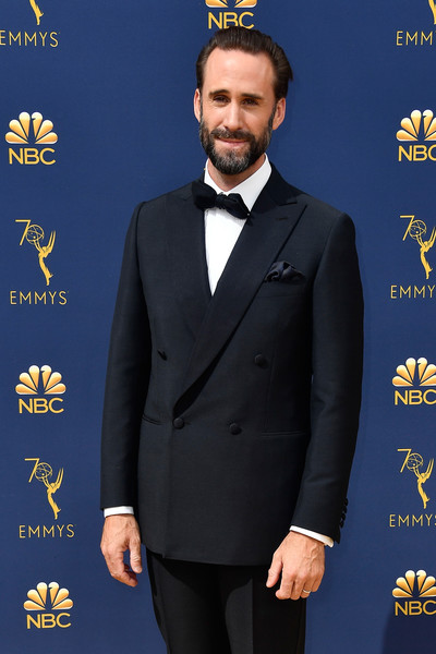 70th Emmy Awards - Arrivals [suit,formal wear,clothing,tuxedo,outerwear,blazer,white-collar worker,arrivals,joseph fiennes,emmy awards,70th emmy awards,microsoft theater,los angeles,california]