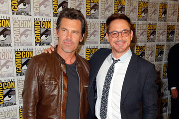 """Josh Brolin Robert Downey Jr. Marvel's Hall H Press Line For """"Ant-Man"""" And """"Avengers: Age Of Ultron"""""""