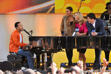 Josh Elliott John Legend Performs on 'GMA'