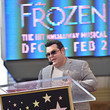 Josh Gad Double Walk of Fame Ceremony For Kristen Bell And Idina Menzel