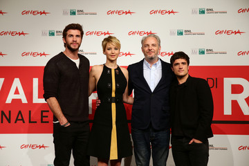 Josh Hutcherson Francis Lawrence 'The Hunger Games: Catching Fire' Photo Call in Rome