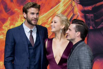 Josh Hutcherson Liam Hemsworth 'The Hunger Games: Mockingjay - Part 2' World Premiere in Berlin