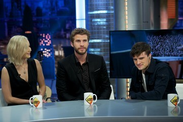 Josh Hutcherson Liam Hemsworth Jennifer Lawrence, Liam Hemsworth and Josh Hutcherson Attend 'El Hormiguero' Tv Show