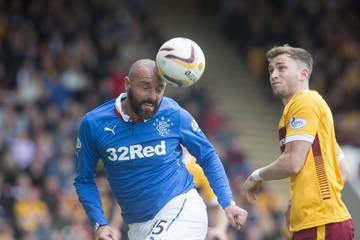 Josh Law Motherwell v Rangers - Scottish Premiership: Play-Offs
